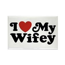 I Love My Wifey Rectangle Magnet