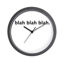 blah blah blah design Wall Clock