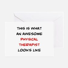 awesome physical therapist Greeting Card