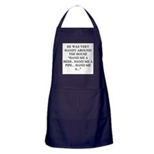 womens divorce joke Apron (dark)