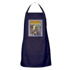 Cute Old time vintage illustration Apron (dark)