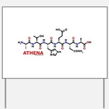Athena name molecule Yard Sign