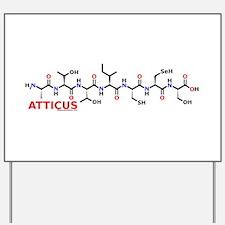 Atticus name molecule Yard Sign