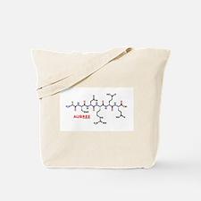 Aubree name molecule Tote Bag