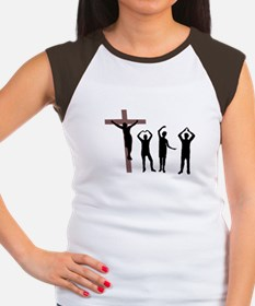 Jesus dancing YMCA Women's Cap Sleeve T-Shirt