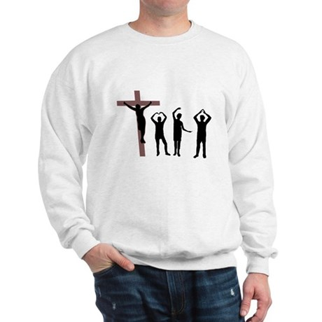 Jesus dancing YMCA Sweatshirt
