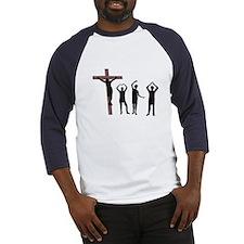 Jesus dancing YMCA Baseball Jersey