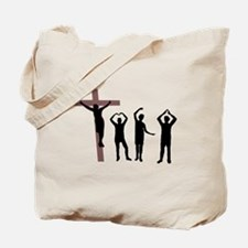 Jesus dancing YMCA Tote Bag