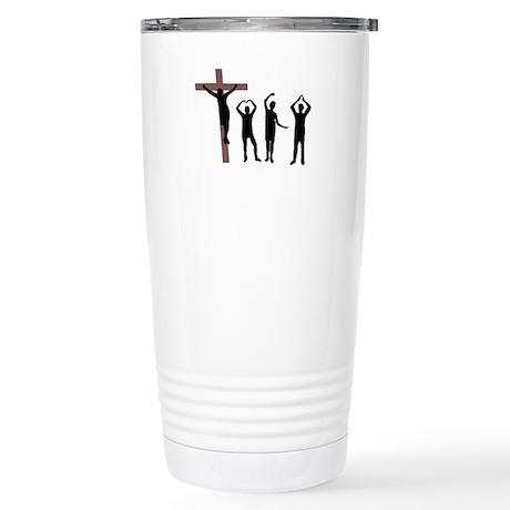 Jesus dancing YMCA Stainless Steel Travel Mug