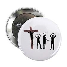 """Jesus dancing YMCA 2.25"""" Button"""