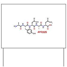 Aydan name molecule Yard Sign