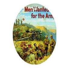 Men Wanted For The Army Oval Ornament