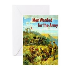 Men Wanted For The Army Greeting Cards (Pk of 10)