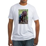GIRL & HORSE Fitted T-Shirt