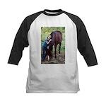 GIRL & HORSE Kids Baseball Jersey
