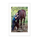 GIRL & HORSE Mini Poster Print