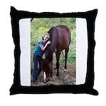 GIRL & HORSE Throw Pillow