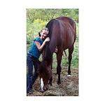 GIRL & HORSE Rectangle Sticker