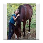 GIRL & HORSE Tile Coaster