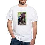 GIRL & HORSE White T-Shirt