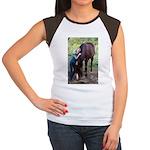 GIRL & HORSE Women's Cap Sleeve T-Shirt