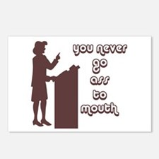 You never go ass to mouth Postcards (Package of 8)