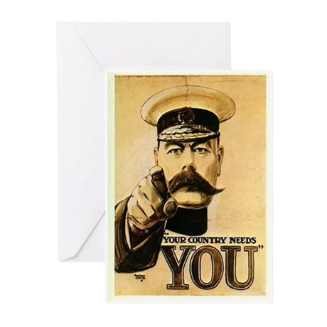 Your Country Needs You! Greeting Cards (Pk of 10)