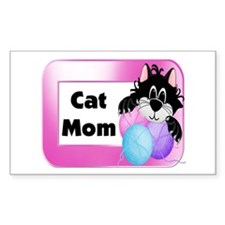 Cat Mom Rectangle Decal