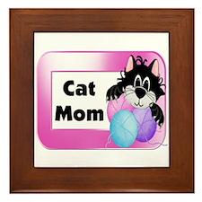 Cat Mom Framed Tile