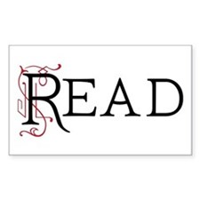 Book Lover Read Rectangle Decal