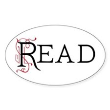 Book Lover Read Oval Decal