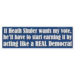 Heath Shuler bumper sticker