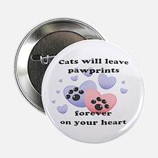 """Kitty Paw-Prints 2.25"""" Button"""