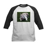 Tiger In The Water Kids Baseball Jersey