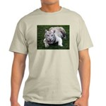 Tiger In The Water Ash Grey T-Shirt