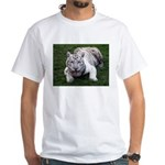 Tiger In The Water White T-Shirt
