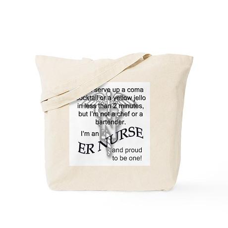 Proud ER Nurse Tote Bag