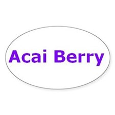 Acai Oval Decal