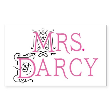 Jane Austen Mrs. Darcy Rectangle Sticker