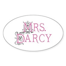 Jane Austen Mrs. Darcy Oval Decal
