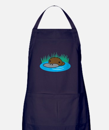 Silly Platypus in the Water Apron (dark)