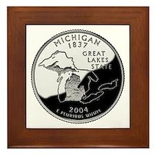 Michigan Quarter Framed Tile