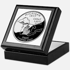 Michigan Quarter Keepsake Box