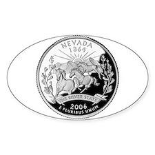Nevada Quarter Oval Sticker (10 pk)