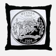 Nevada Quarter Throw Pillow