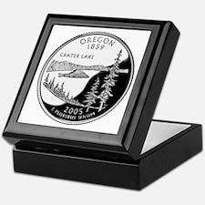 Oregon Quarter Keepsake Box