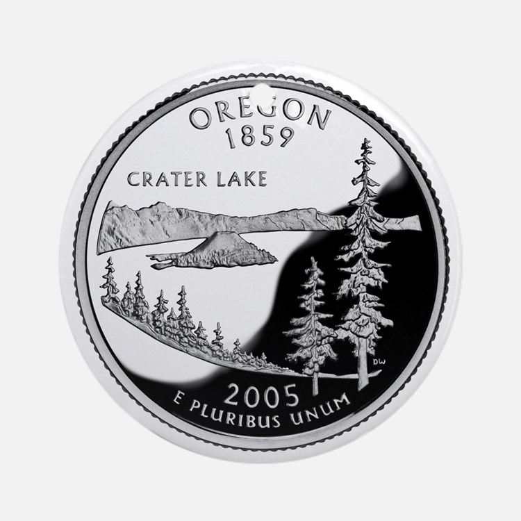 Oregon Quarter Ornament (Round)