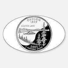 Oregon Quarter Oval Decal