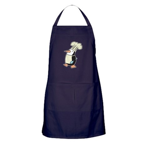 Silly Chef Penguin Apron (dark)