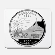 Nebraska Quarter Mousepad